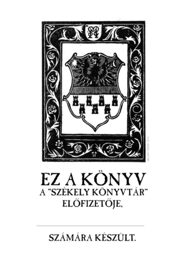 Székely Könyvtár 6 – Apor Péter: Metamorphosis Transylvaniae