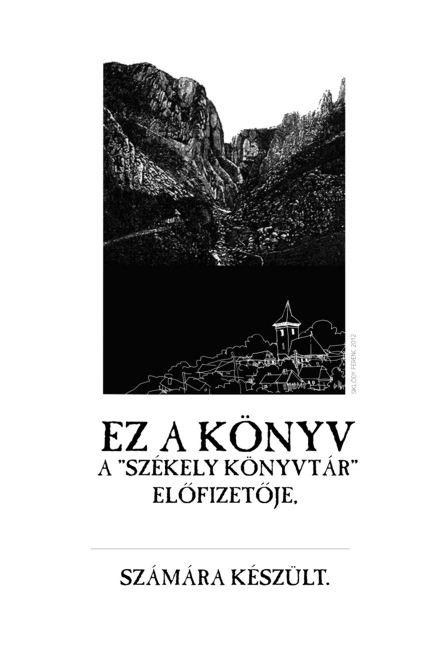 Székely Könyvtár 14 - Balázs Ferenc: A rög alatt