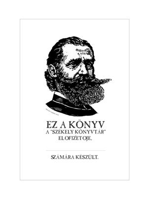 Ex Libris (rajzolta: Siklółdy Ferenc) az előfizetők könyvei számára